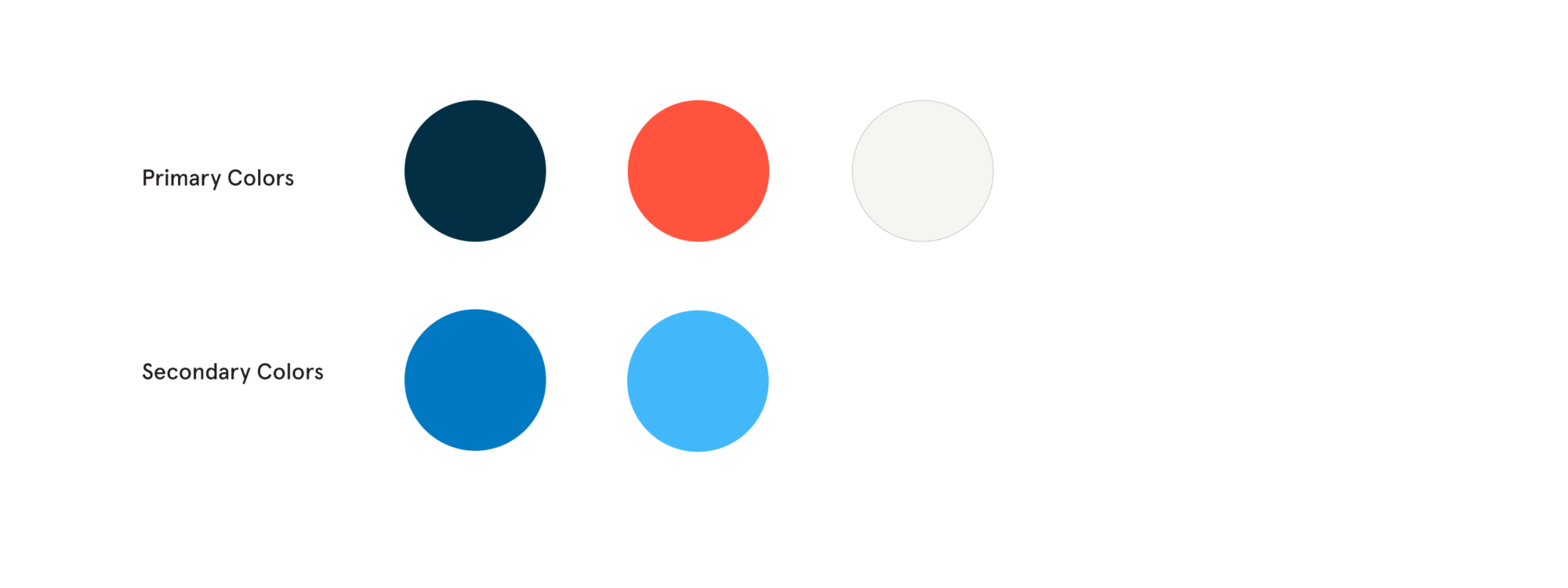Primary and secondary color choices for Madison Capital Funding website redesign