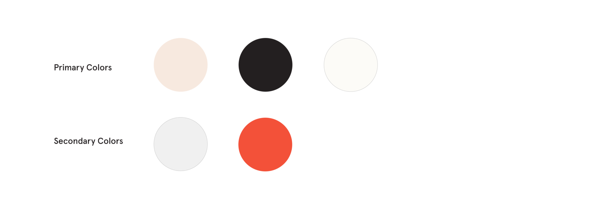 Primary and secondary color choices for the Pollock-Krasner Foundation website redesign