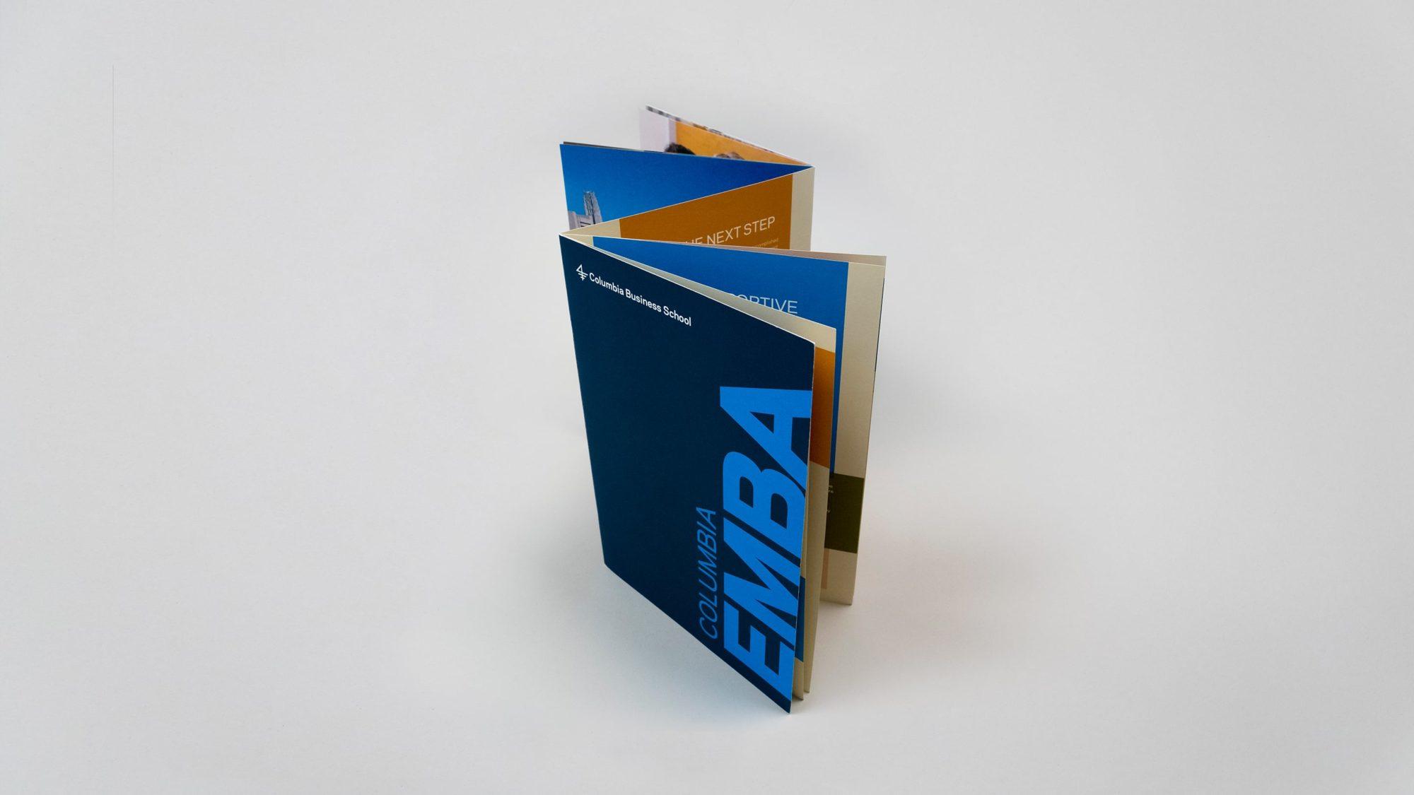 Z-fold flipbook design for program brochure