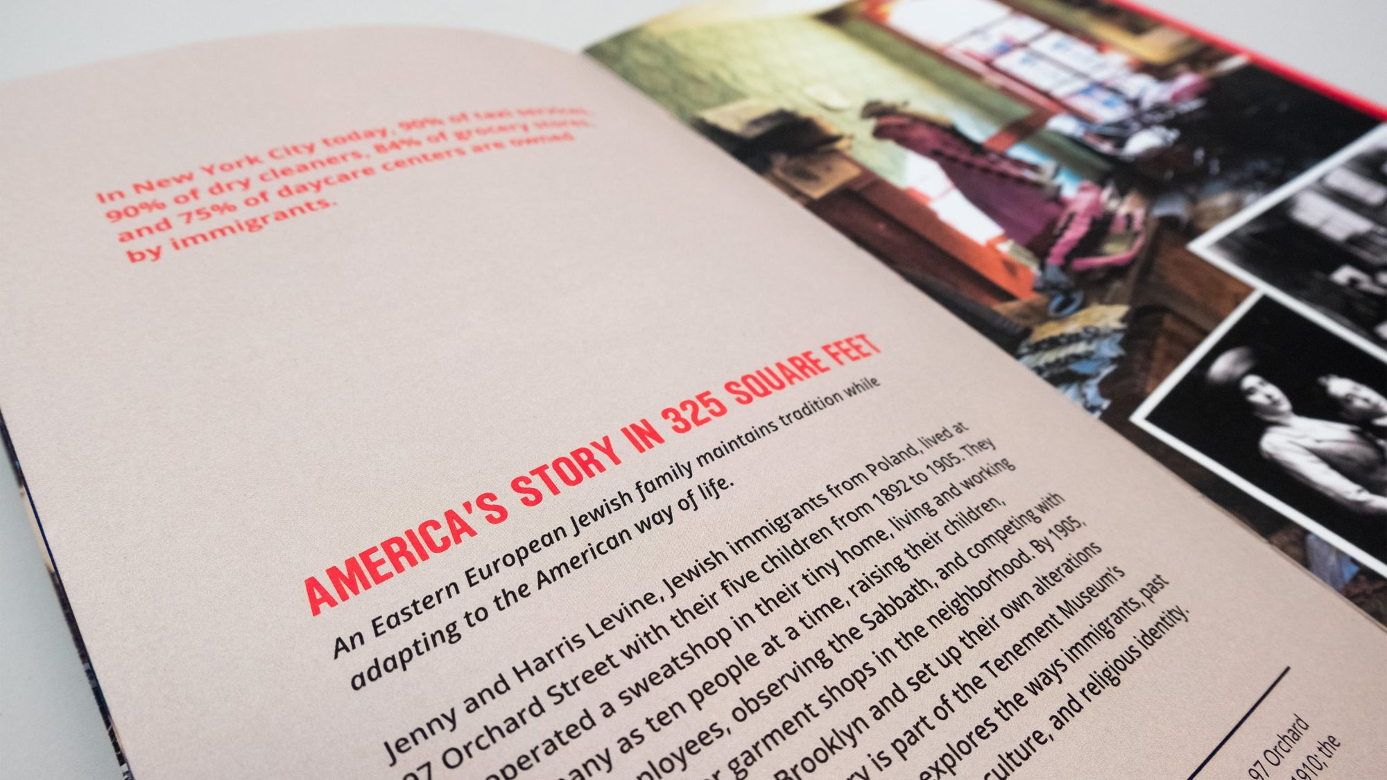 "Interior page with the headline ""America's Story in 325 Feet"""