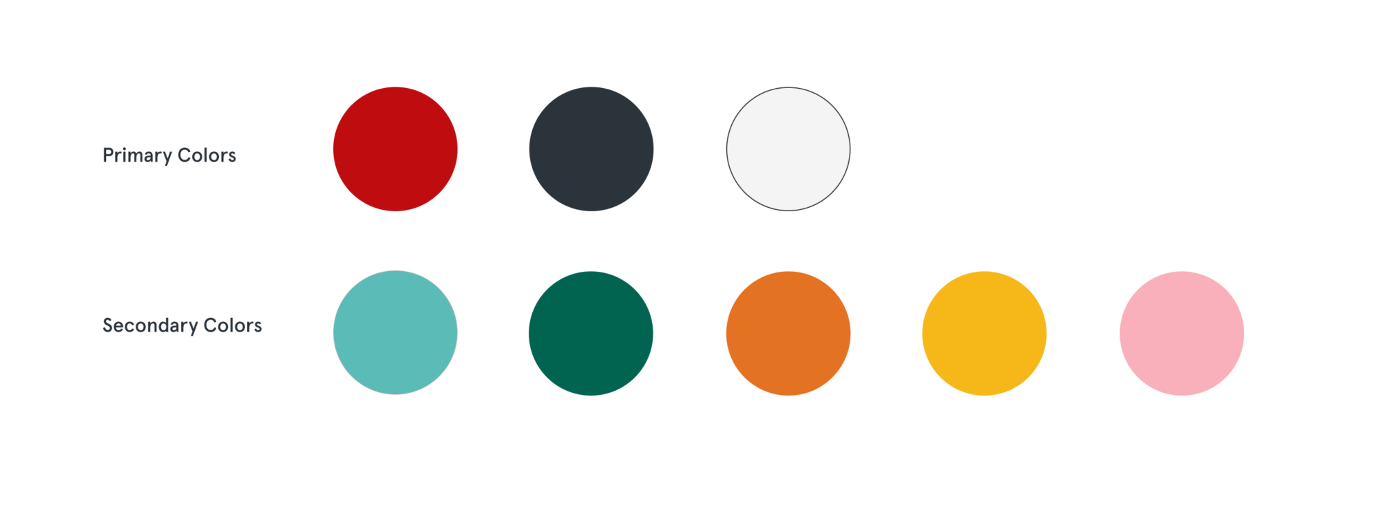 Primary and secondary color choices for the Tenement Museum website redesign